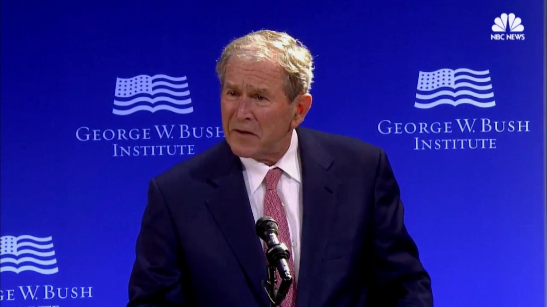 George W Bush and Barack Obama join forces to rebuke Donald Trump