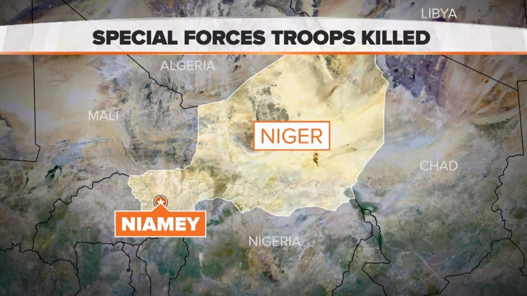 US Special Forces troops killed in Niger