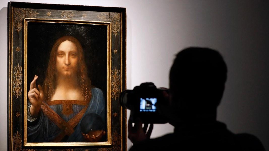 Salvator Mundi Buyer >> Leonardo da Vinci's 'Salvator Mundi' painting sells for record $450M - NBC News