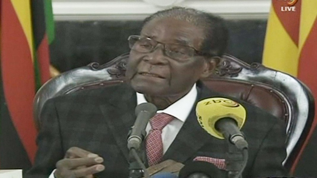 Zimbabwe's ruling party set to sack Mugabe