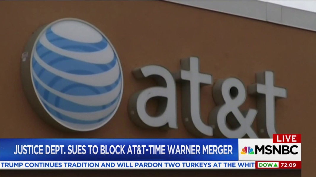 Justice Department Sues AT&T To Block Monster Time Warner Deal