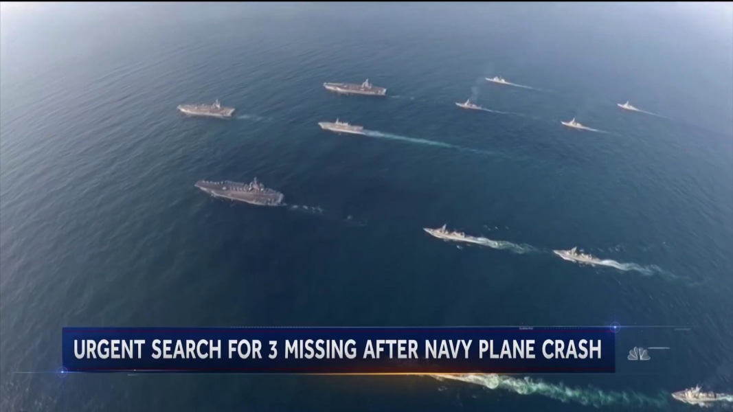 Search continues for 3 US sailors missing in Philippine Sea