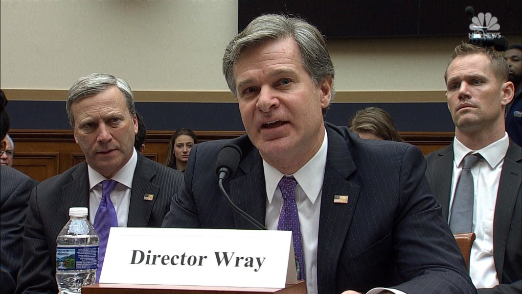 FBI Director Chris Wray Briefs Congress And Defends His Institution