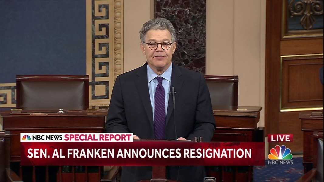 Al Franken Resigns Blasts Republican Hypocrisy On Sexual