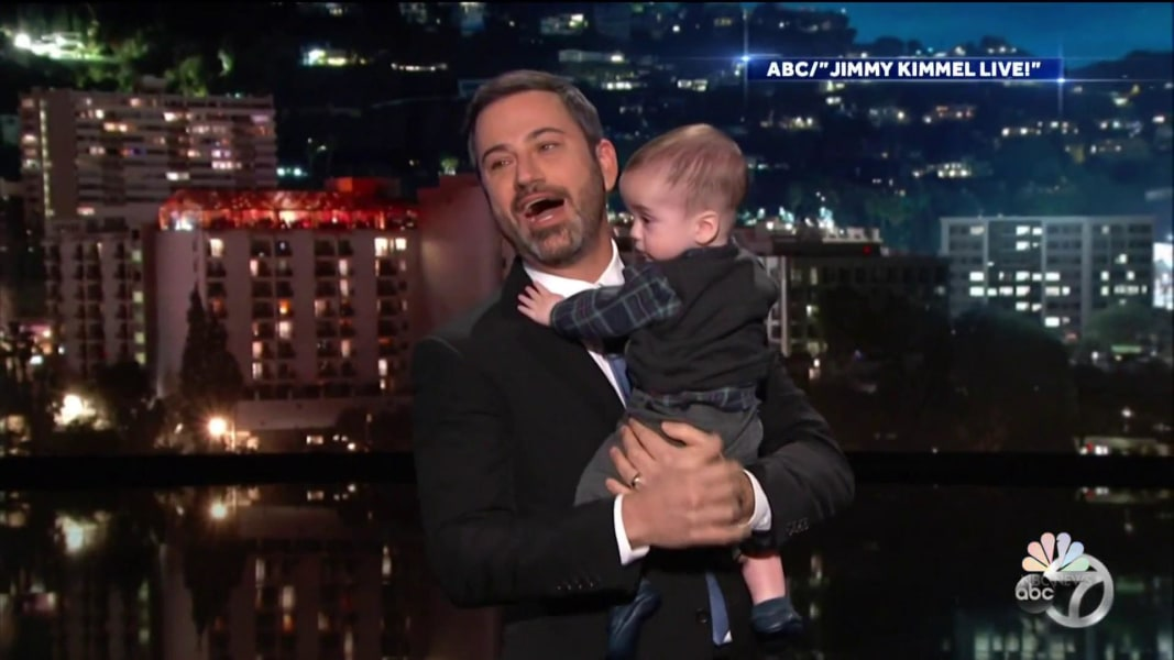 Jimmy Kimmel Holds His Son In Emotional Plea For Child Health Care