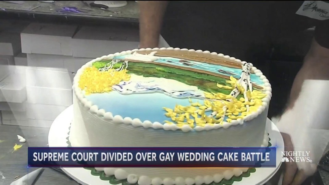 Supreme Court Hears Why Baker Refused To Make A Wedding Cake For