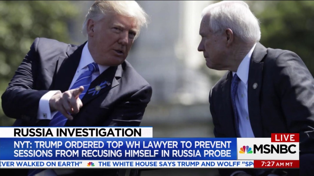 Trump had lawyer urge AG against Russian Federation recusal