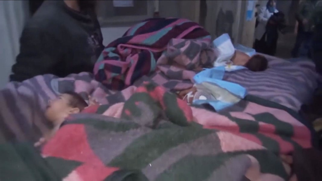 Image result for Babies rescued from Syrian hospital after Russian airstrike 1:10 Video nbc