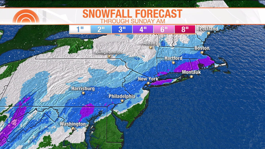 Snow Storm Weather Map.Weekend Snowstorm Looms For Northeast After Spring Like Temperatures