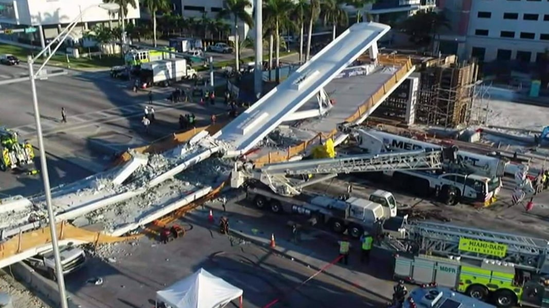 Collapsed Florida walkway was built using new 'accelerated' bridge technology