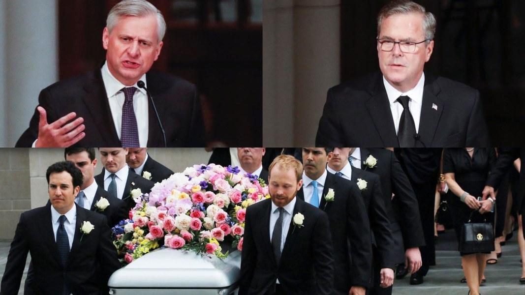 Barbara Bush Funeral Watch Emotional Eulogies