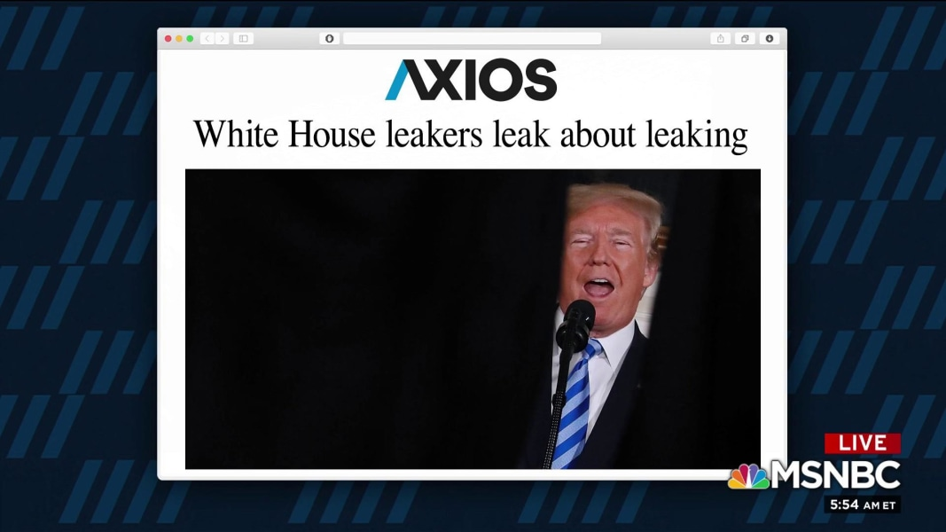 White House leakers leak about leaking - NBC News