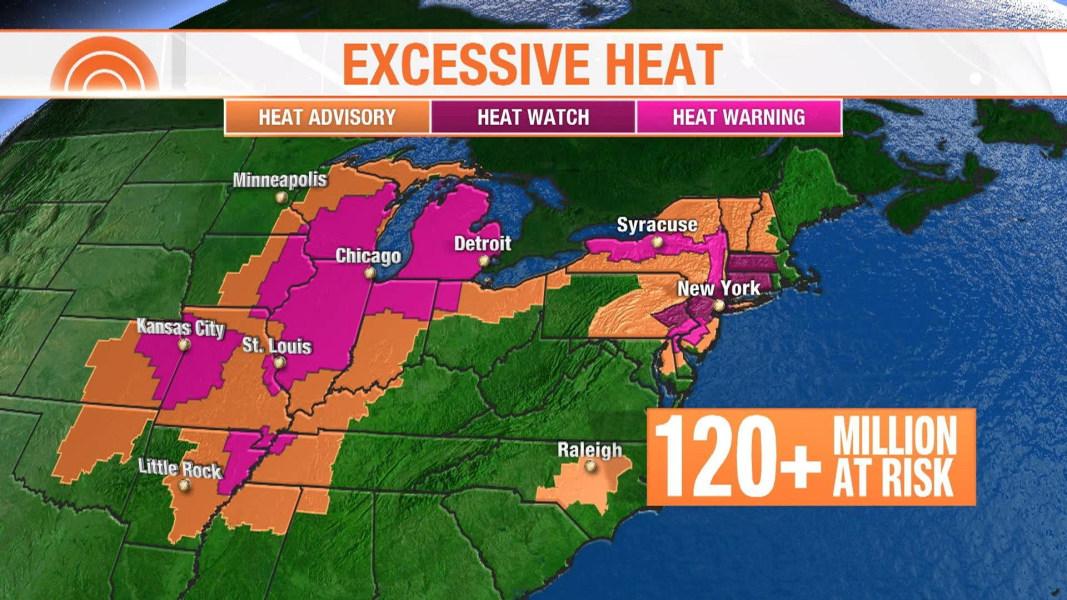 Dangerous heat wave to blanket 120 million people across US - NBC News