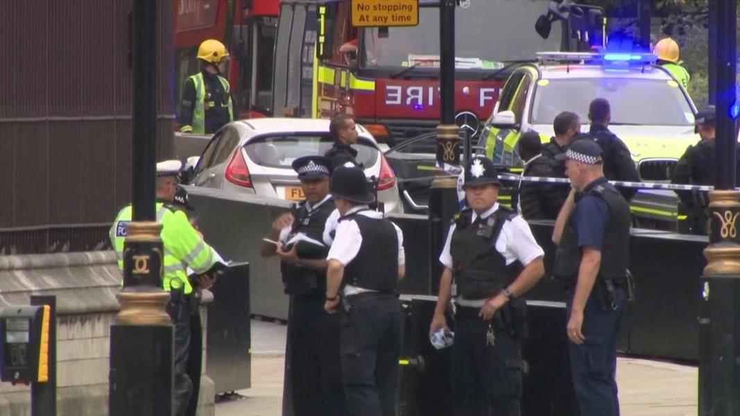 London police treating car crash near Parliament as terror
