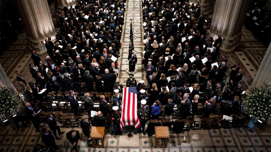 George H W Bush Funeral Live Updates Nbc News