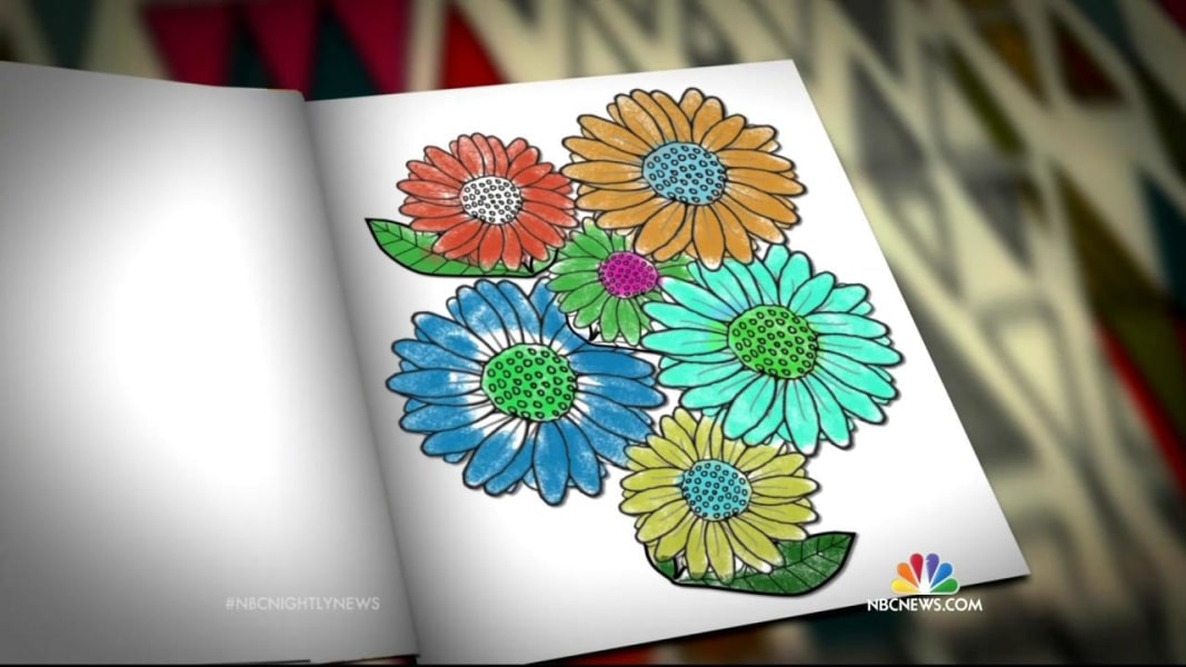 Thinking Outside Of The Crayon Box Adults Use Coloring Books As Stress Reducer