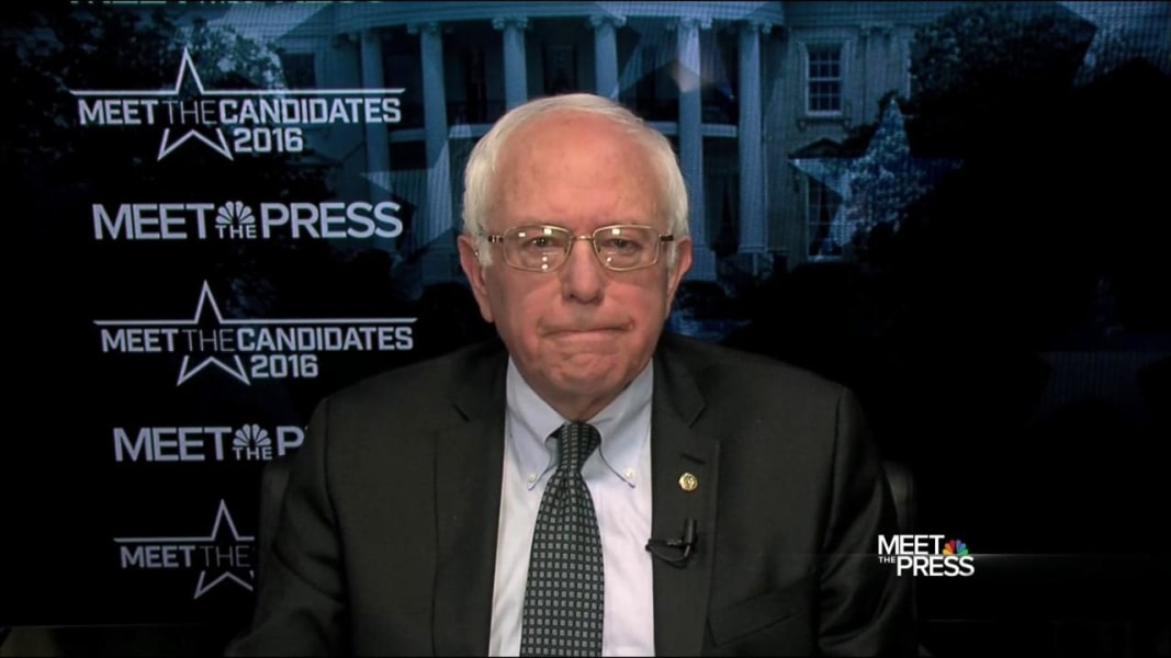 bernie sanders meet the press full interview with mary