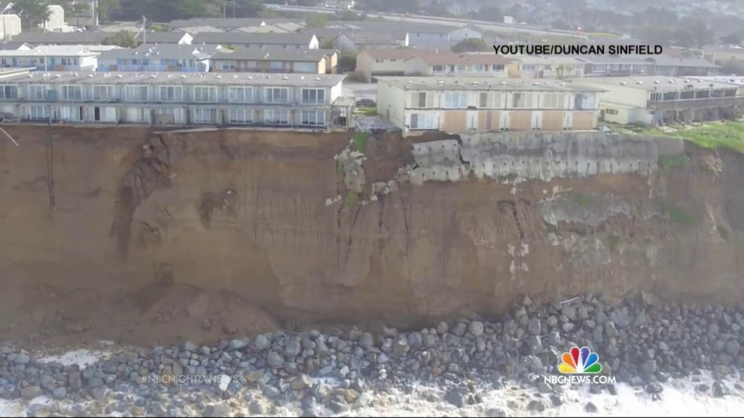 Cliffside Homes on Verge of Collapse in California Due to El