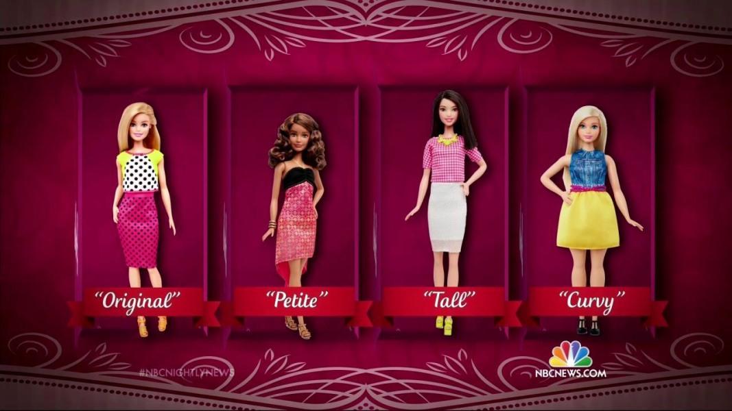 Barbie cambia forme, ora è anche tutta curve e bassina 