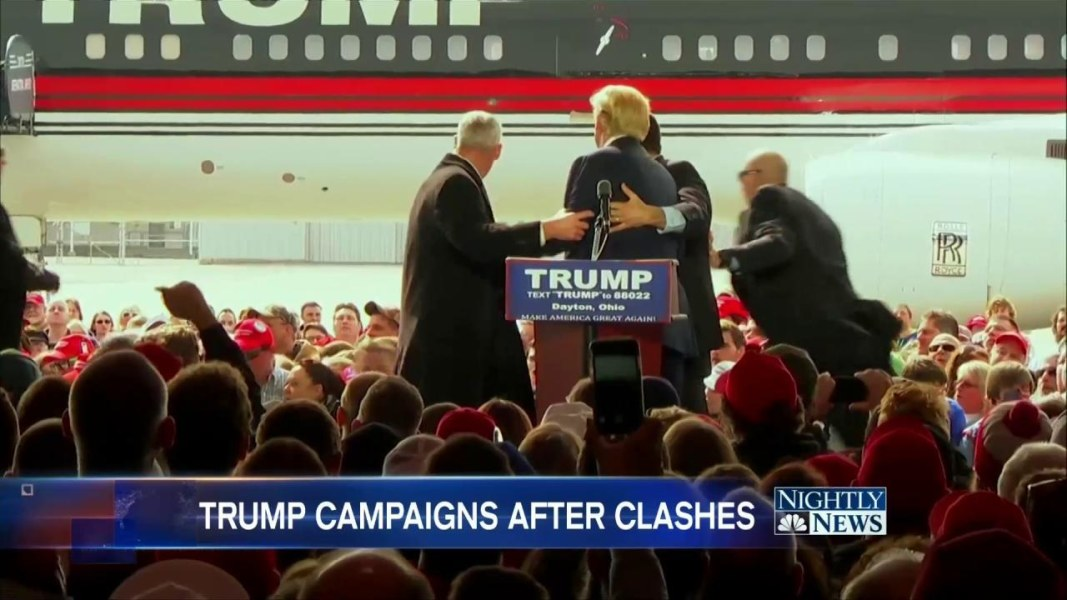 Secret service rushes stage to protect donald trump at ohio rally facebook twitter embed secret service storms ohio rally stage to protect trump publicscrutiny Image collections