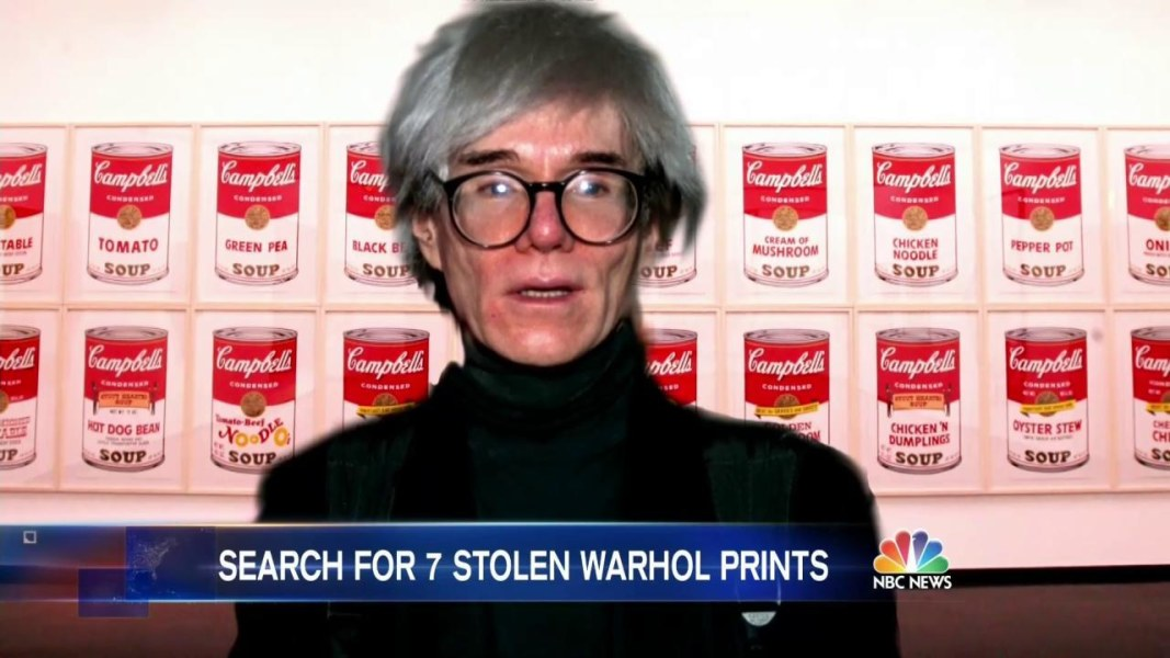 Fbi offers 25k reward after andy warhol art stolen from for Andy warhol famous works