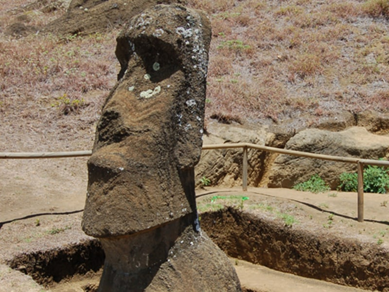 Large Stone Heads Called Moai Are Found On Island