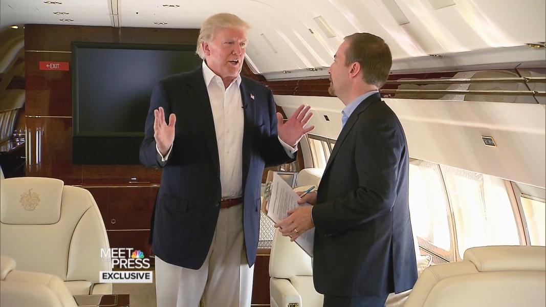 On Private Jet, Trump Explains New Immigration Plan - NBC News