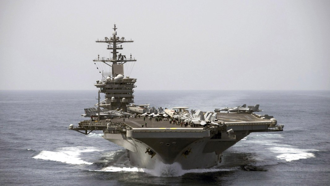 As Russia Bombs Syria U S Pulls Aircraft Carrier Out Of