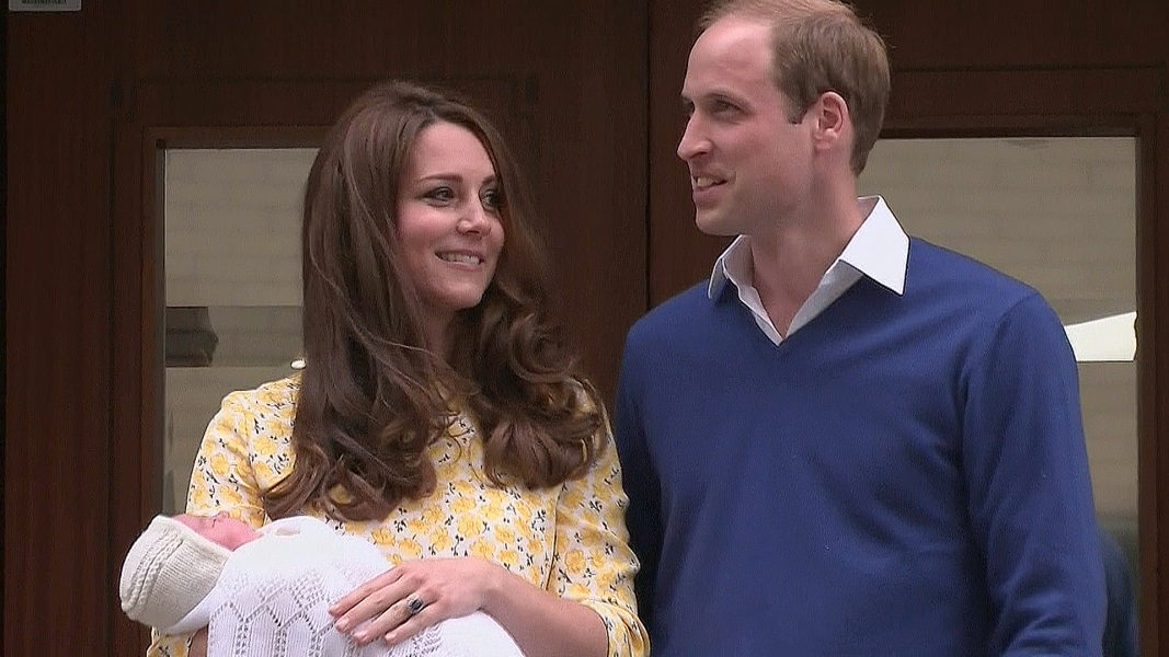 Kate And William Leave Hospital With New Baby Girl Nbc News