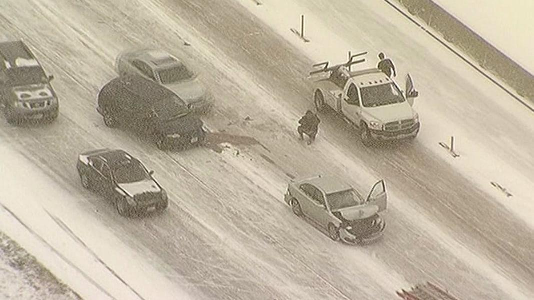Car Barrels Through Accident Scene - NBC News