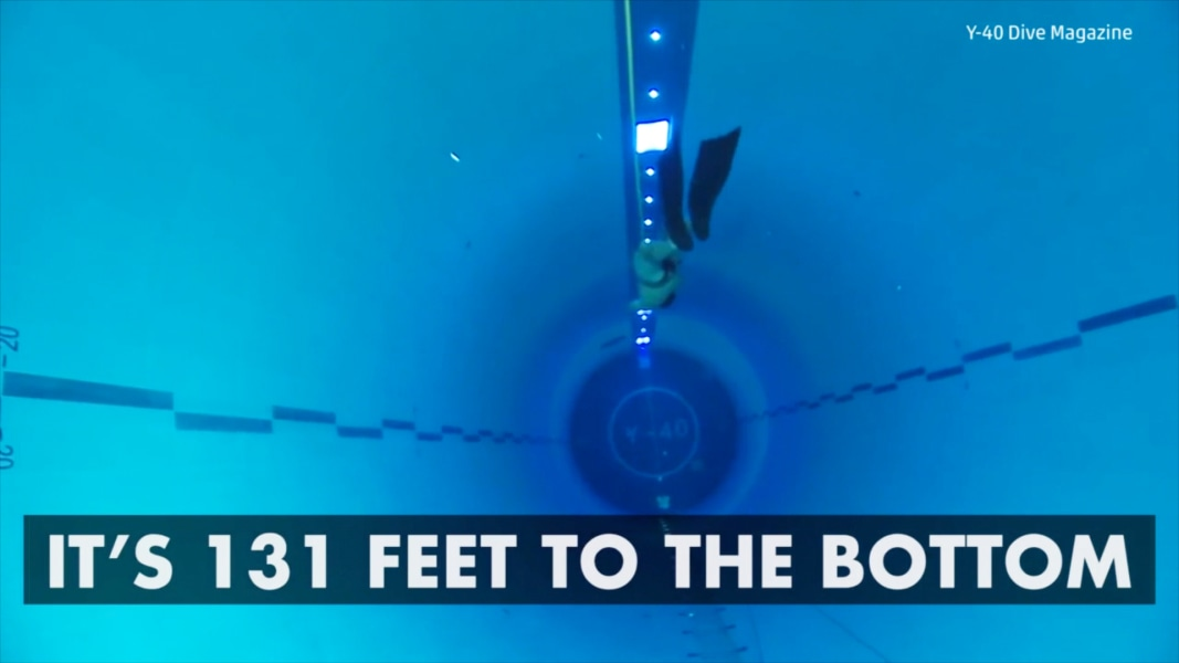 Y 40 Is The World 39 S Deepest Swimming Pool Nbc News