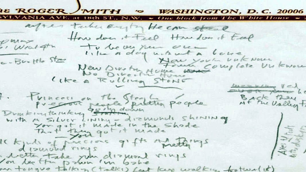 Dylan's 'Rolling Stone' Lyrics Sell for $2.05M, Tops Lennon Record ...