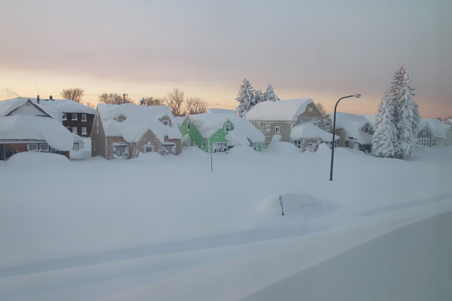 buffalo  western new york buried by another wave of snow