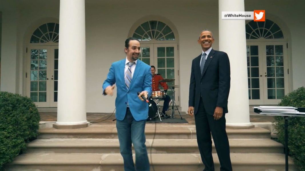 39 hamilton 39 star lin manuel miranda goes 39 viral 39 with white house freestyle nbc news. Black Bedroom Furniture Sets. Home Design Ideas
