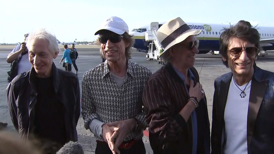 Rolling Stones Arrive in Cuba for Historic Concert - NBC News Rolling Stones News