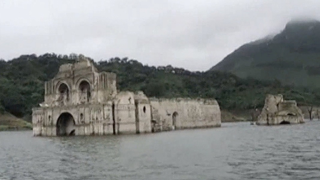 Ghost Church Sixteenth Century Mexican Submerged Underwater Resurfaces