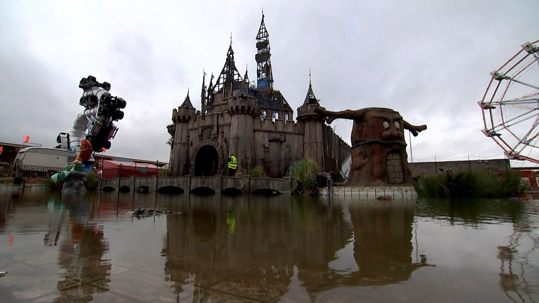 Banksy Spoofs Disney with 'Dismaland' Theme Park - NBC News