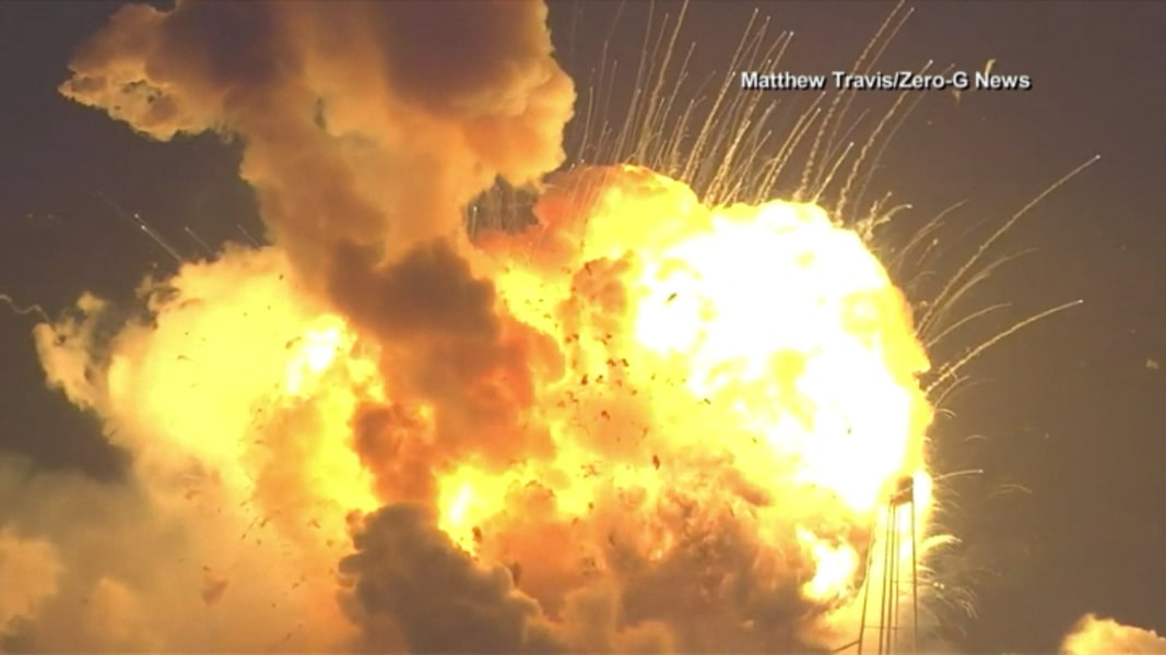 Antares Rocket Bound for Space Station Explodes on Launch ...