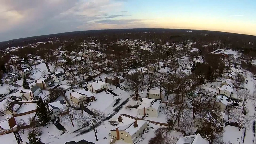 Watch Drone Video of the Snow on Long Island - NBC News