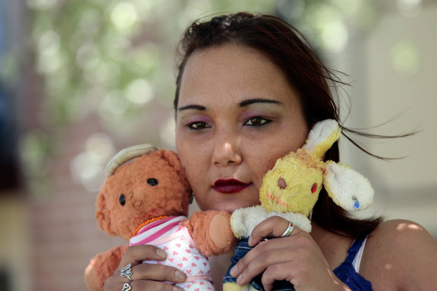 Inga, Who Was Adopted From Russia, Holds The Two Stuffed Dolls She Saved  From The Orphanage In Russia, Near Her Apartment In Battle Creek, Mich, In  May