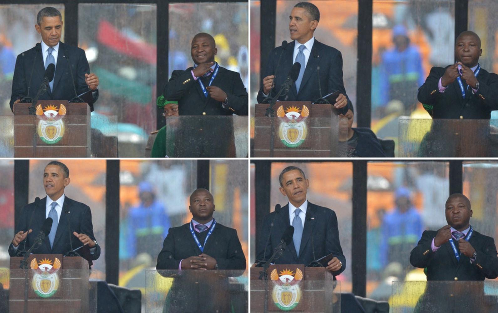 What happened to the fake Nelson Mandela interpreter ...  |Barack Obama Sign Language
