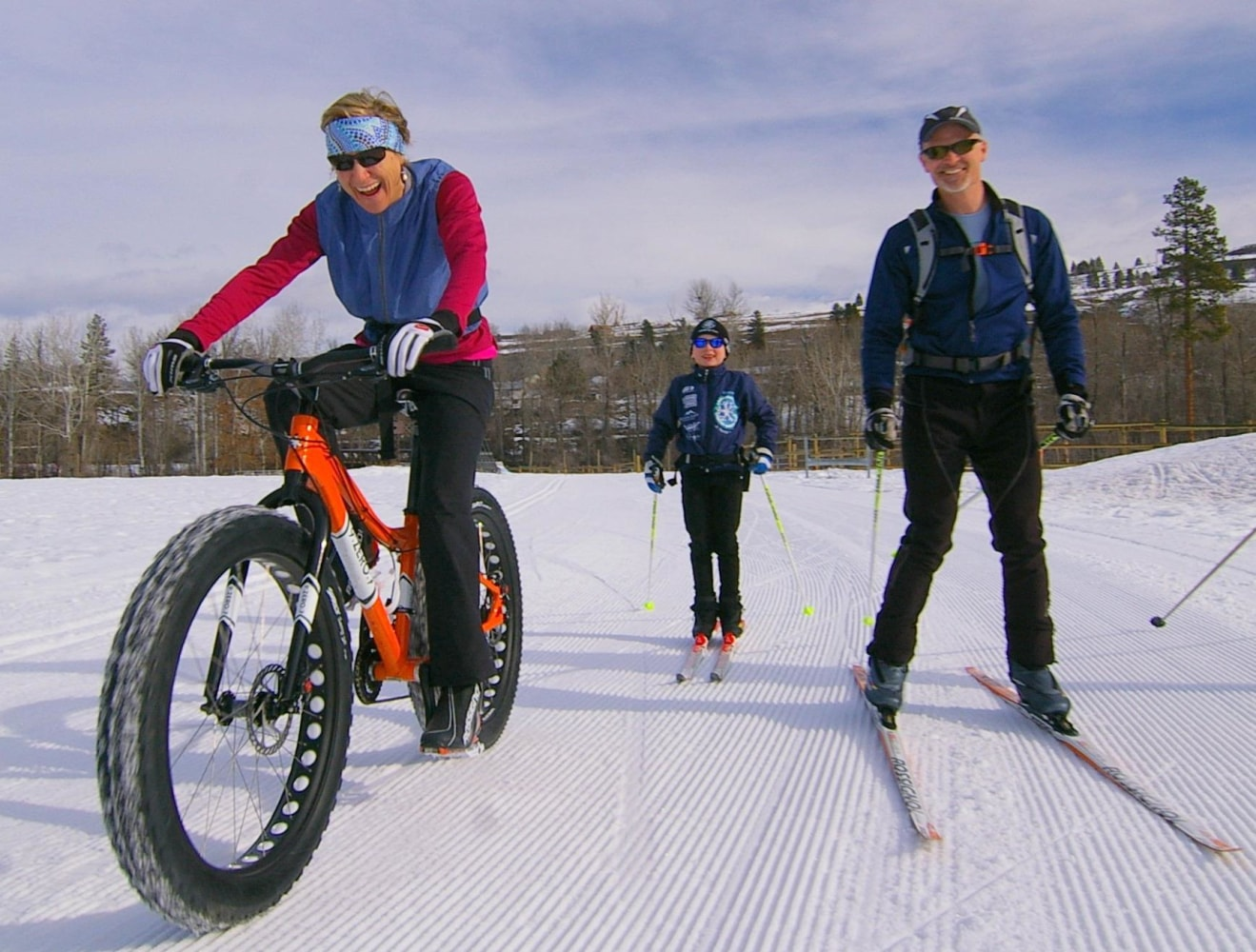 Over Sized Fun Riders Float Over The Snow On Fat Bikes Nbc News