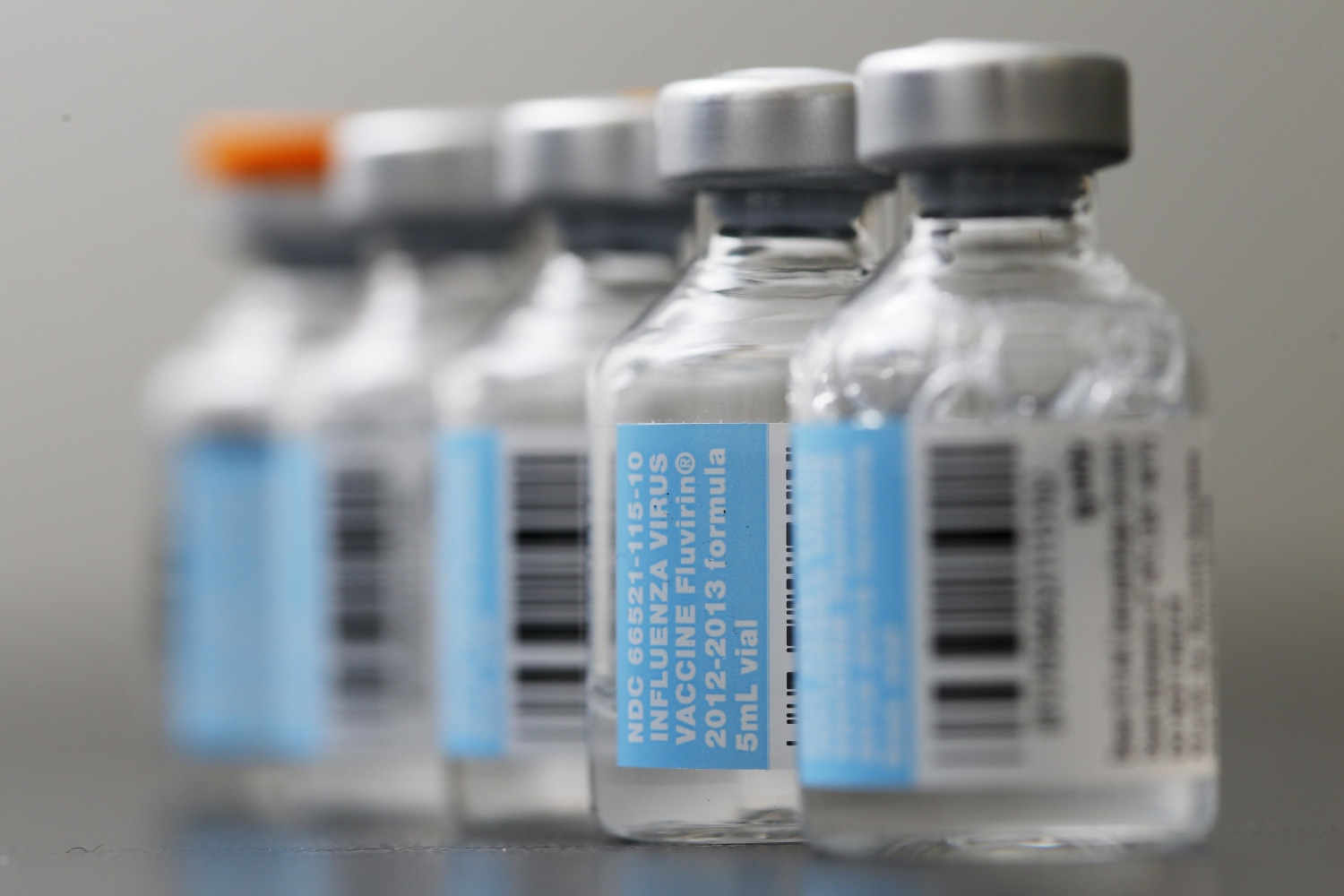 Image Vials of flu vaccine
