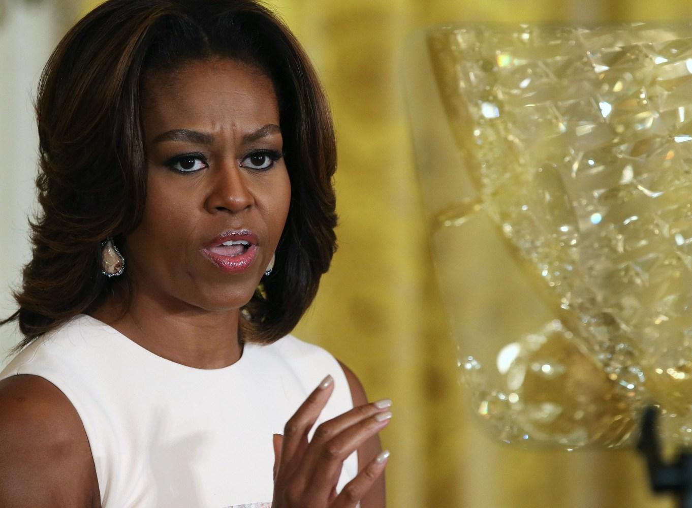 Michelle Obama Eating Junk Food
