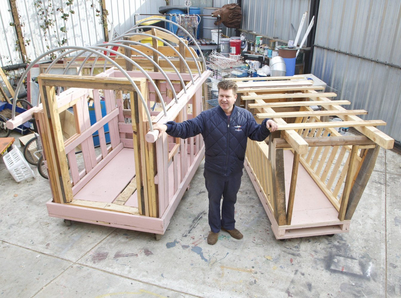 California Artist Gregory Kloehn, Who Builds Small Portable Homes Using  Salvaged Materials, Says An