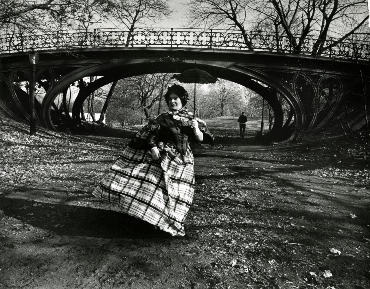 fashion meets architecture in revived photo essay nbc news image editta sherman poses in period costume in front of the gothic bridge in central