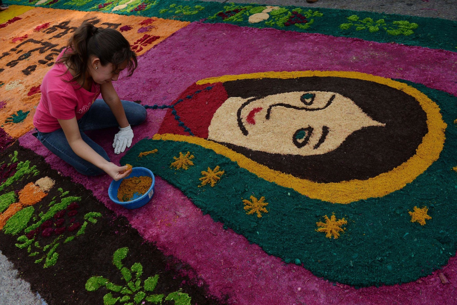 Holy Sawdust Carpet Breaks World Record In Guatemala Nbc