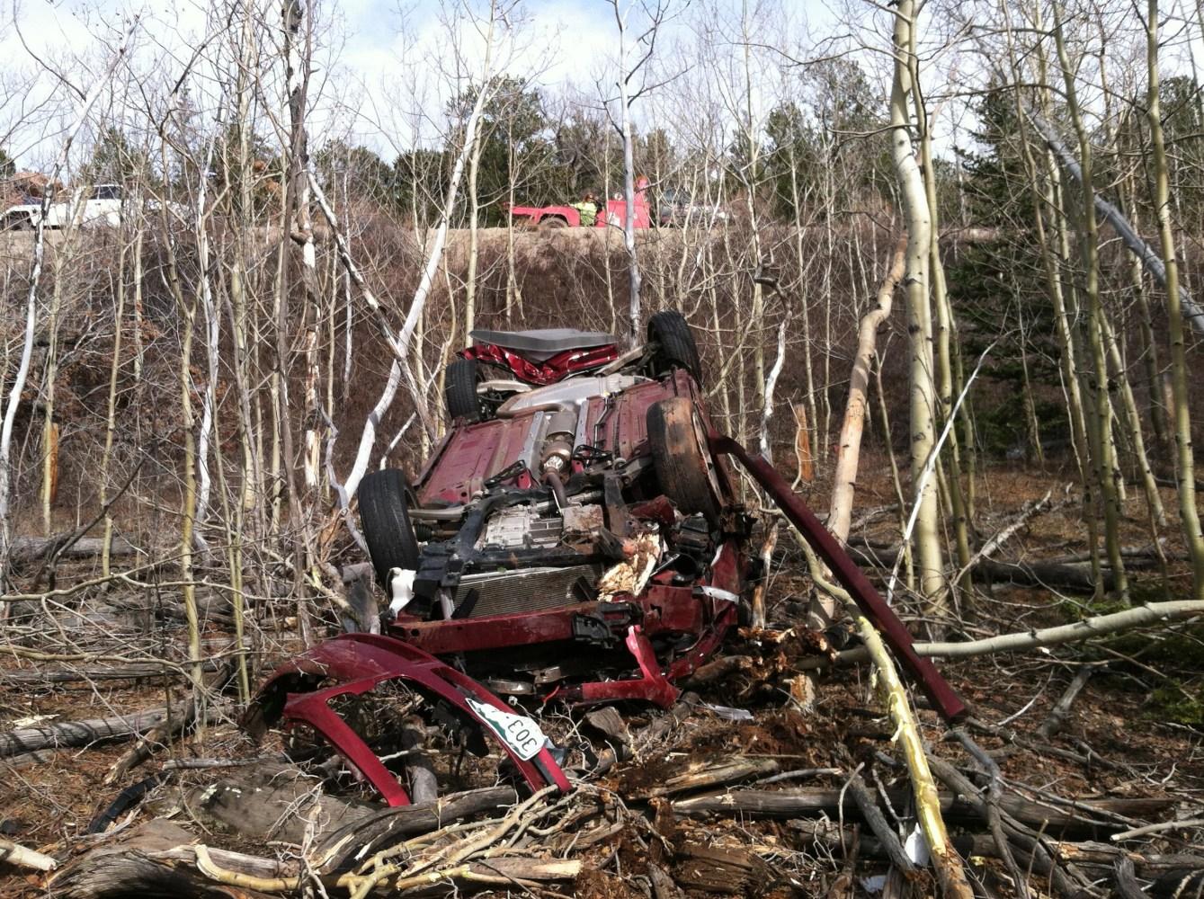 Trapped Inside Car Crash Break Window