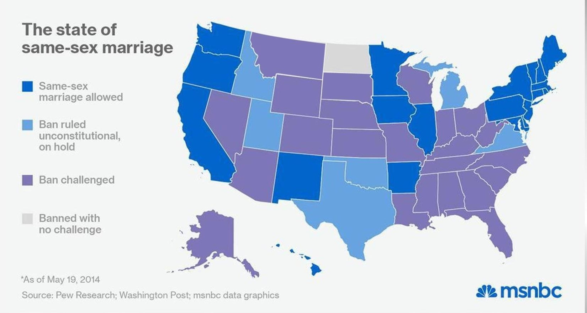 from Terrell map of gay marriage states