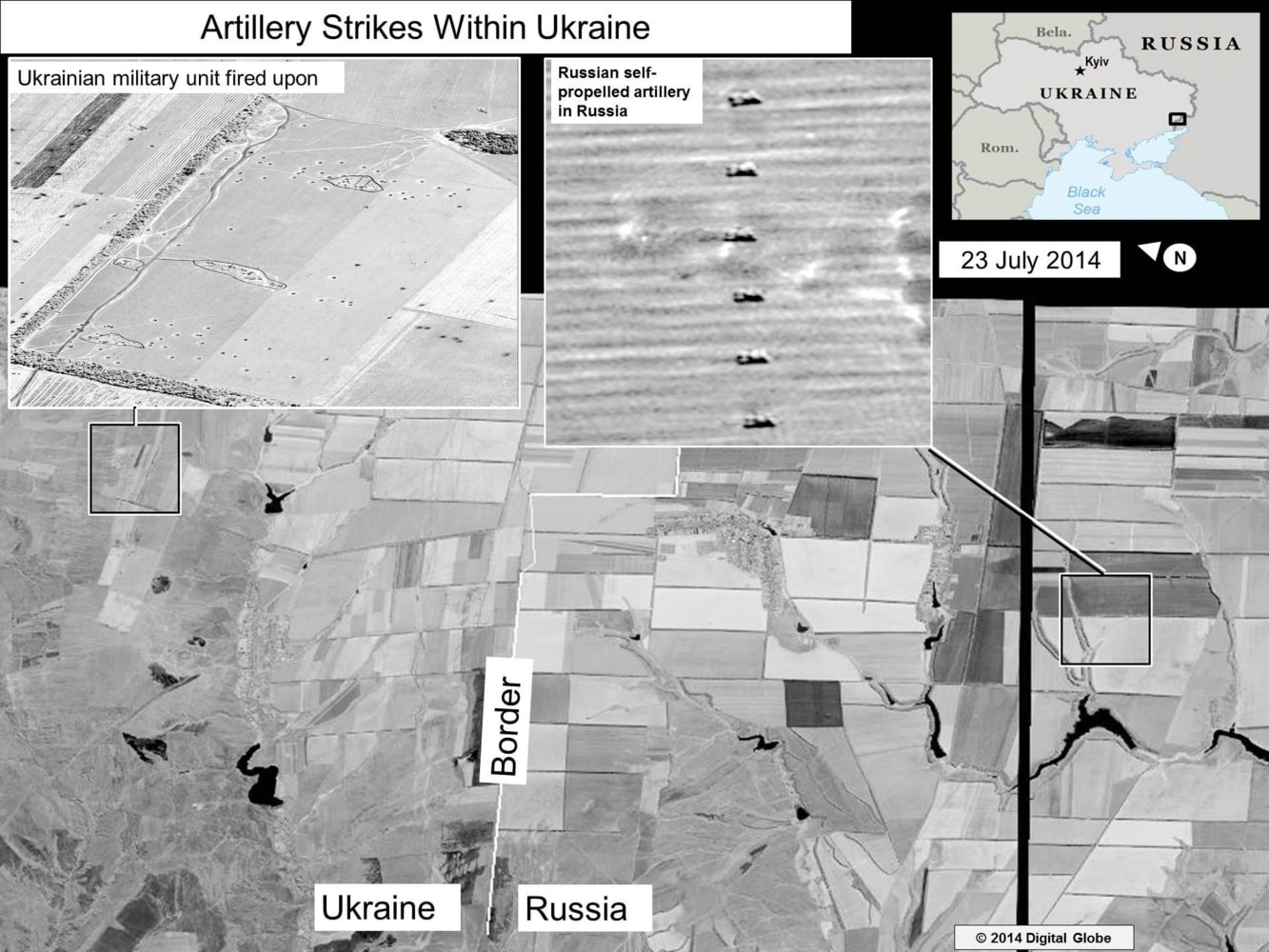 Satellite Images Show Russia Firing Into Ukraine U S Government